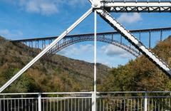 Old and New River Gorge Bridges in West Virginia Stock Photos