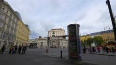 View of Albertin in Vienna, Austria Stock Footage