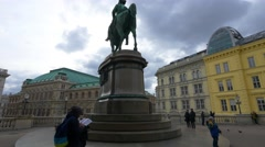 Albertina Albrechtsbrunnen (Danubiusbrunnen) Vienna Stock Footage