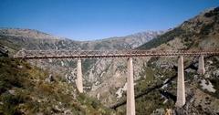 Aerial, Train Bridge Over Mala Rijeka, Montenegro.. Stock Footage