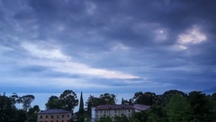 4K. Timelapse sunset in the city of Gagra, Abkhazia. Ultra HD,  Stock Footage