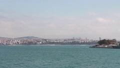 Bosphorus Bridge blue sea  Stock Footage