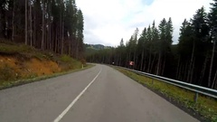 2K. Driving on a mountain rural road. Stock Footage