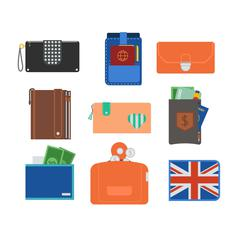 Purse wallet vector isolated Stock Illustration
