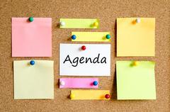 Agenda text concept Stock Photos