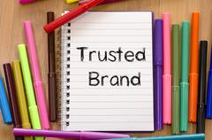 Trusted brand text concept Stock Photos