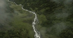 Reveal of a large waterfall Stock Footage