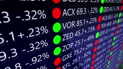 Generic Futuristic Stock Market Ticker for Stock Exchange board - S Stock Footage