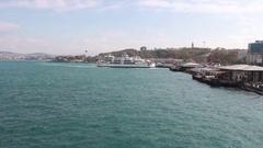 Sea trip in istanbul Stock Footage