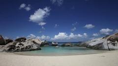 Spring Bay Beach, Virgin Gorda, British Virgin Islands Stock Footage