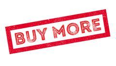 Buy more rubber stamp Stock Illustration