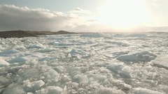 Jokulsarlon Glacial Lake In Iceland Stock Footage