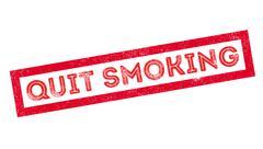 Quit Smoking rubber stamp Stock Illustration