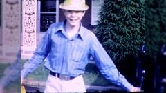 Teenage Boy Waves Hello Goodbye 1960s Vintage Film Home Movie 10436 Stock Footage