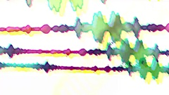 Sound Waves Cartoon Flickering Fast Background Stock Footage