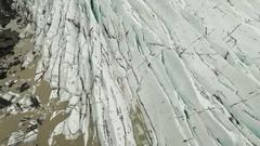 Beautiful Footage Of Svinafellsjokull Glacier Stock Footage