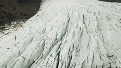 Drone Footage Of Majestic Svinafellsjokull Stock Footage