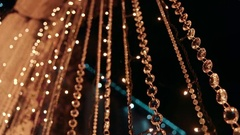 Wedding decor. Night .Orange diamonds background Stock Footage