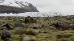 Dolly Shot Of Svinafellsjokull Glacier Stock Footage