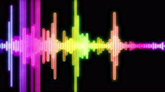 Equalizer Audio Spectrum Color Dinamic Waves Background Stock Footage