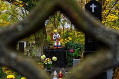 In Transcarpathia the first of November is celebrated on All Saints Day Stock Photos