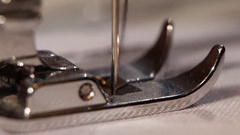 Needle in the sewing machine. Close up Stock Footage