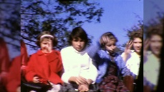 Students Teenagers Waving Hello Goodbye1960s Vintage Film Home Movie 10418 Stock Footage