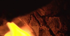 Macro slow motion shot of flames Stock Footage