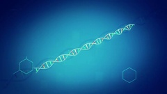 DNA Animation Background Stock Footage