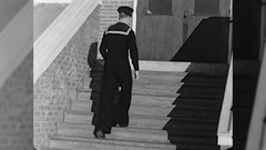 Man Royal Canadian Navy Sailor Soldier WW2 1940s Vintage Film Home Movie 10404 Stock Footage