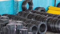 Loader stacks Plastic pipes in stock. 4k timelapse Stock Footage
