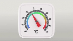 Rising temperature on square thermometer. Stock Footage