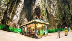 View at the Batu caves in Malaysia Stock Footage