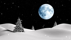 Christmas background with a clock and snow Stock Footage