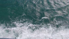 Sea waves and jerry bubbles Stock Footage