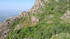 Panorama in the mountains of Aravali. India. Rajasthan. Stock Footage
