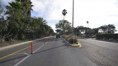 Driving Plates Multi Angle Horbor 09 CAM2 Rear Marina Del Rey 60fps Stock Footage