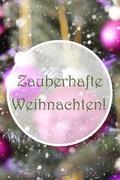 Vertical Rose Quartz Balls, Zauberhafte Weihnachten Means Magic Christmas Kuvituskuvat