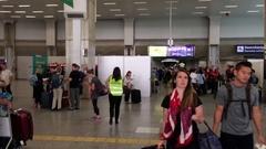 Rio de Janeiro airport 2016 Olympics establishing shot Stock Footage