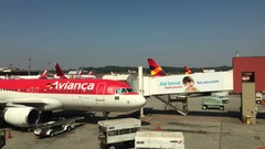 Avianca airlines at Sao Paulo Guarulhos International Airport 4k Stock Footage