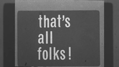 That's All Folks THE END Title Ending Graphic Home Movie Vintage Film  Stock Footage