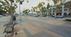 San Francisco Cable Cars Embarcadero Stock Footage