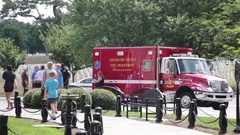 Fire truck at the Arlington National Cemetery Stock Footage