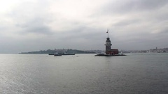 The Maiden's Tower in Istanbul Stock Footage