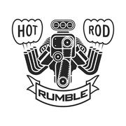 Engine hot rod muscle car speedster logo t-shirt poster banner vector Piirros
