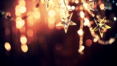 Christmas and New Year Background with Holiday Decoration garland Stock Footage