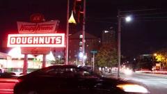 Krispy Kreme in Atlanta Stock Footage