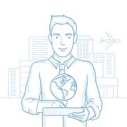 International technology communication Stock Illustration