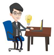 Successful business idea vector illustration Stock Illustration