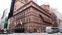 Carnegie Hall at Night - New York City Stock Footage